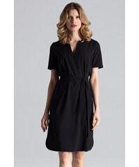 0825b3689 FIGL Čierne peplum šaty za krk M368 - Glami.sk