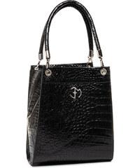 Dámska luxusná taška na notebook čierny lak kroko ST01 15.6