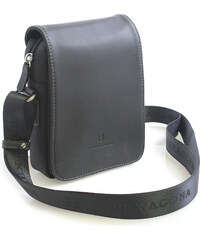 fdf186dca Luxusná pánska kožená kabelka cez rameno čierna - Hexagona Filippo čierna