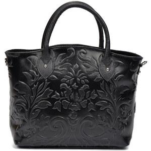 Čierna kožená kabelka Renata Corsi Anna