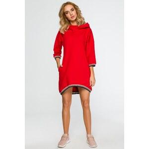 607c067b4 Červené šaty Moe 401 - Glami.sk