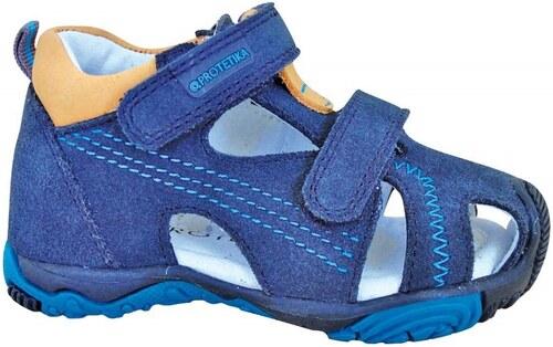 5baffee6c Protetika Chlapčenské kožené sandále Laris Tyrkys - modré - Glami.sk