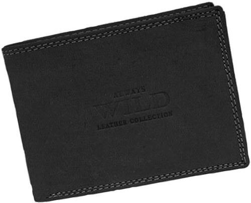 7245f232c ALWAYS WILD Značková čierna pánska peňaženka z príjemnej kože - Glami.sk