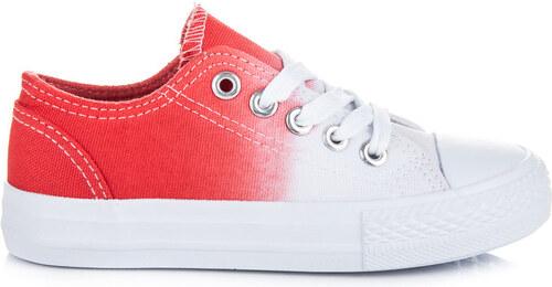 36ff1d5e7 KYLIE Detské dvojfarebné bielo-červené tenisky na jar - Glami.sk