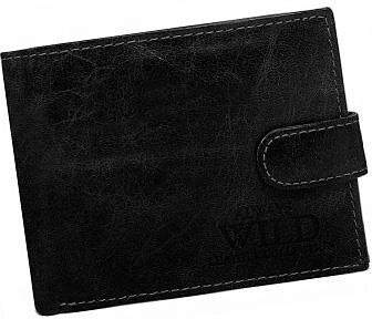 8c338d202 ALWAYS WILD Praktická čierna pánska peňaženka so zapínaním na klip ...