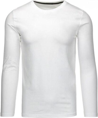 5e1637daf Čisto biele pánske tričko z kvalitnej bavlny - Glami.sk