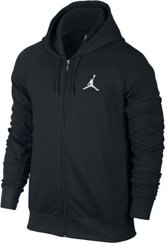 6f5060957 Pánska Mikina Air Jordan Air Jordan Flight Fleece FZ Black White ...