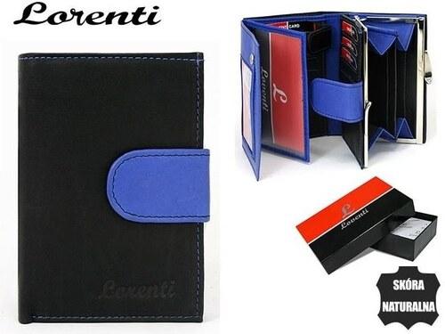 e800ce2dd Lorenti Elegantná čierna dámska peňaženka so zapínaním v modrej farbe