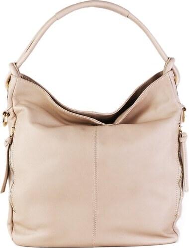 99d2cb24685aa Talianske kožené luxusné kabelky cez plece béžové Salváre, NEW ...