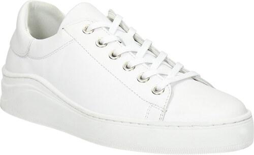 e62a1841f Baťa Biele kožené tenisky - Glami.sk