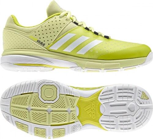 5b185f0c7de Sálové topánky adidas Performance COURT STABIL W (Žltá / Biela / Strieborná)