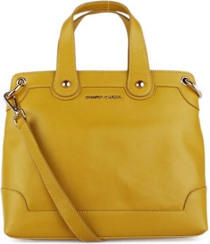 50762e8f2 Kožená kabelka stredná do ruky Charo Garcia žltá - Glami.sk