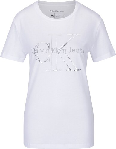 0329a6909da8d Biele dámske tričko s potlačou Calvin Klein Jeans Tanya - Glami.sk