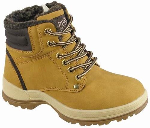 877a54af0fa61 Peddy Chlapčenské zateplené členkové topánky - svetlo hnedé - Glami.sk