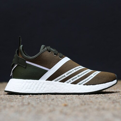 d0a531aed14d8 Pánske tenisky Adidas Originals White Mountaineering NMD R2 PK Trace Olive