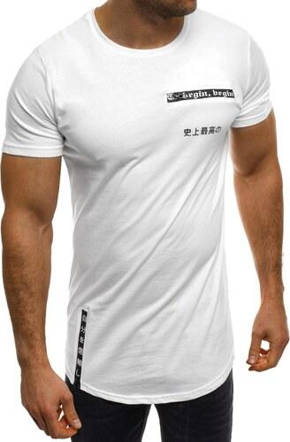 c0965fcdeda2d Štýlové predĺžené tričko so zipsami biele BREEZY 293 - Glami.sk