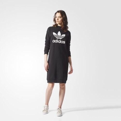 a81fed27ea472 Dámske čierne teplákové šaty Adidas Originals - Glami.sk
