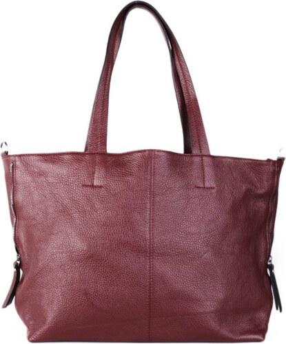 9817299530fa5 Talianske kožené kabelky cez rameno veľké burgundská vínová Ramira ...