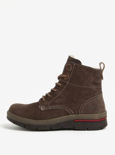 48e0613713e92 Hnedé dámske kožené zimné topánky Weinbrenner - Glami.sk