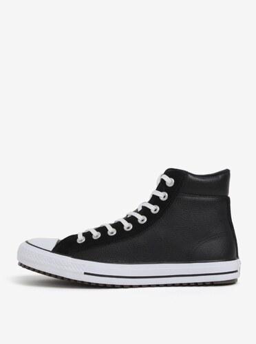 60878e0ff Čierne pánske členkové kožené tenisky Converse Chuck Taylor - Glami.sk