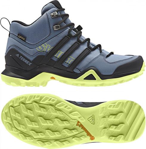 b3534f336843c Dámske členkové topánky adidas Performance TERREX SWIFT R2 MID GTX W (Šedá  / Čierna /