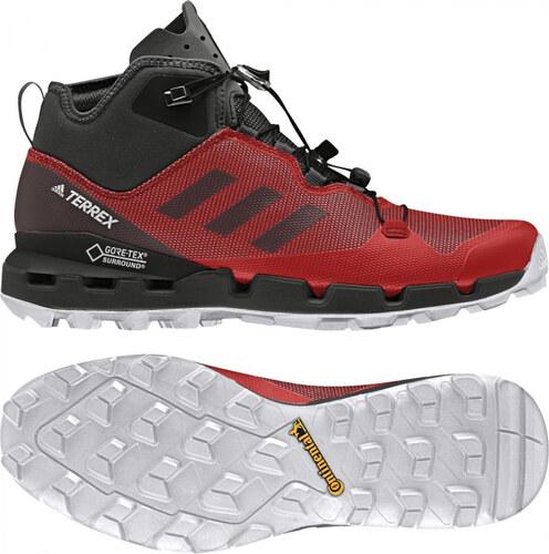 ee79f1bb29555 Pánske členkové topánky adidas Performance TERREX FAST MID GTX-SURROUND  (Červená / Čierna /