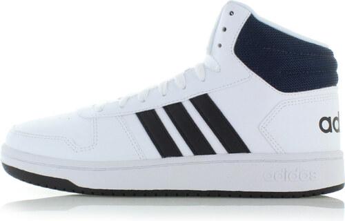 137660c7e3de8 adidas CORE Pánske čierno-biele členkové tenisky Hoops Mid 2.0 ...