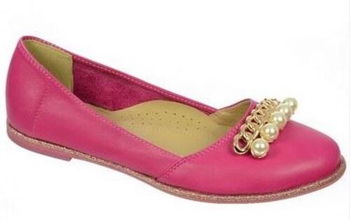 46920e316 Oliva shoes OLIVIA shoes cyklámenové kožené baleríny DBA030 - Glami.sk