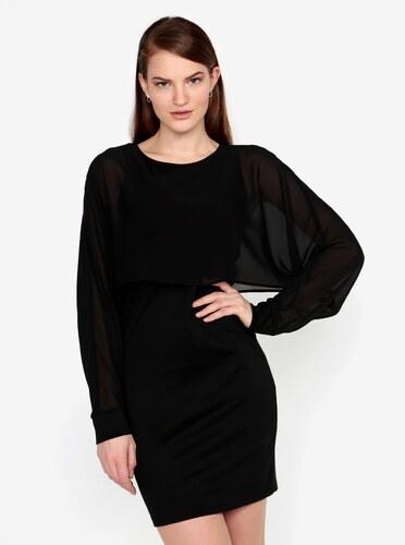 3baa98705 Čierne šaty s priesvitným rukávom VERO MODA Ewa - Glami.sk