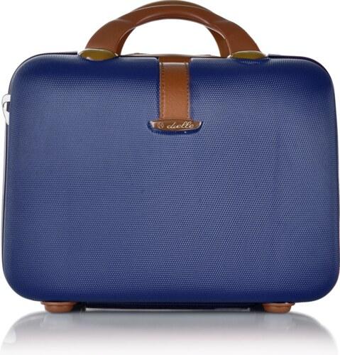 e6409a48c6487 Dielle malý kozmetický a príručný kufrík 7 litrový modrý 6dll-03-9-004
