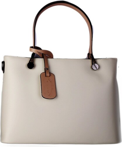 35a289a9615ca Talianske luxusné kožené kabelky veľké jemne béžová Marta, NEW ...