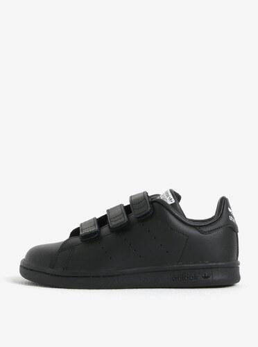 e73508ee519cb Čierne detské kožené tenisky na suchý zips adidas Originals - Glami.sk
