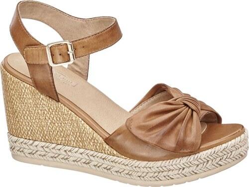 e922a237e8660 5th Avenue Kožené sandále na klinovom podpätku - Glami.sk