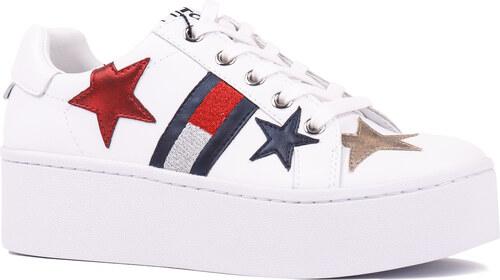 6cefd073a8ed0 Tommy Hilfiger biele tenisky Tommy Jeans Icon Sparkle Sneaker - Glami.sk