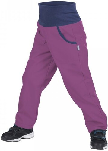 bd200bb48 Unuo Dievčenské softshellové nohavice s fleecom New - černicové ...