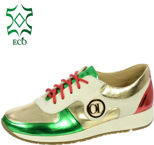 f91988d12 Zlato-zelené tenisky K894-OLIVIA SHOES eco - Glami.sk