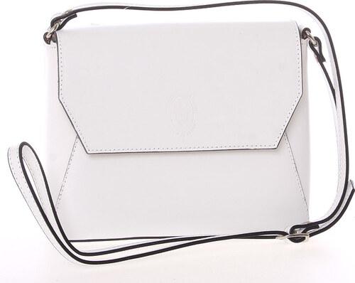 ecfc1649bfec8 Dámska kožená crossbody kabelka biela - ItalY Marleta biela - Glami.sk