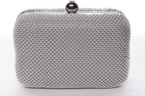 cbfa84dbf Malá dámska perleťová listová kabelka strieborná - Delami Q407 strieborná