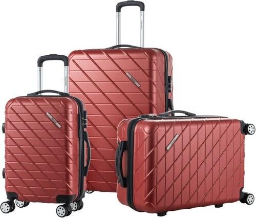 ba24d1fbd6a8c Sada 3 hnedých cestovných kufrov na kolieskach Murano Americano ...