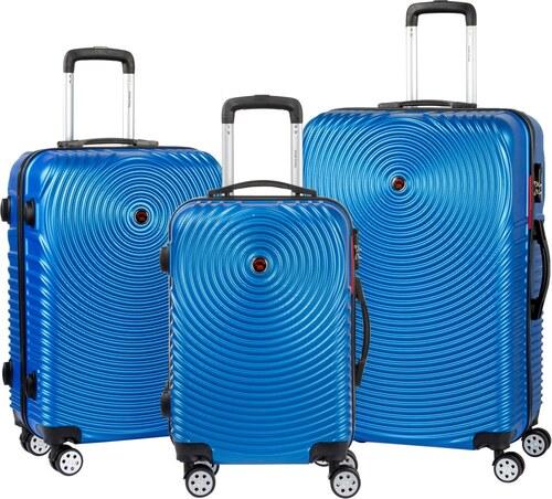 ec7d57c347075 Sada 3 modrých cestovných kufrov na kolieskach Murano Traveller ...