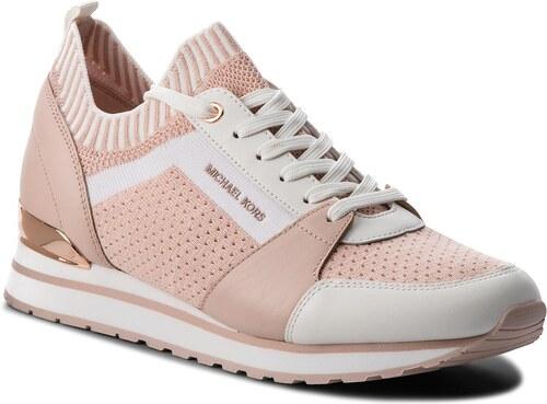 64db0b48f76e7 Sneakersy MICHAEL MICHAEL KORS - Billie Knit Trainer 43T8BIFS1D Soft Pink