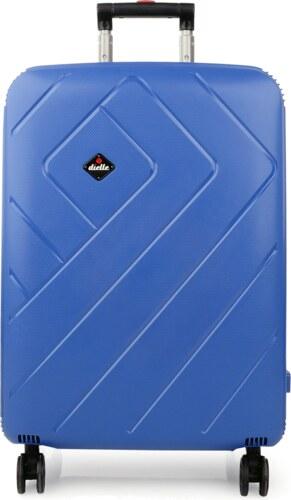f097424f7ef8c Dielle veľké cestovné kufre na 4 kolieskach 87 litrové modré PPL8-70 ...