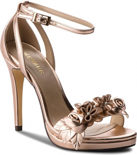 8d11b3990 Sandále MENBUR - 09306 Oro Rosa/Even Rose 0038 - Glami.sk