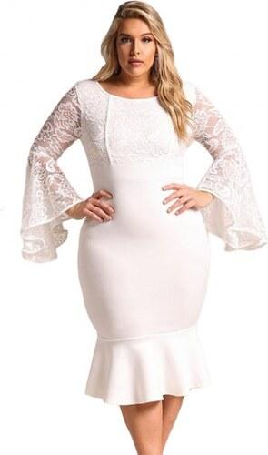 205a25053 Krátke biele spoločenské šaty pre moletky LC61875-1 - Glami.sk