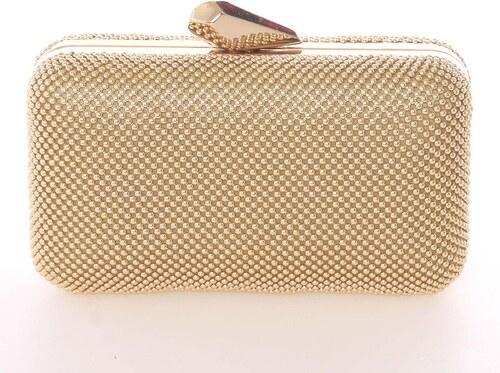 70d1caed7 Módna dámska perleťová listová kabelka zlatá - Delami V437 zlatá ...