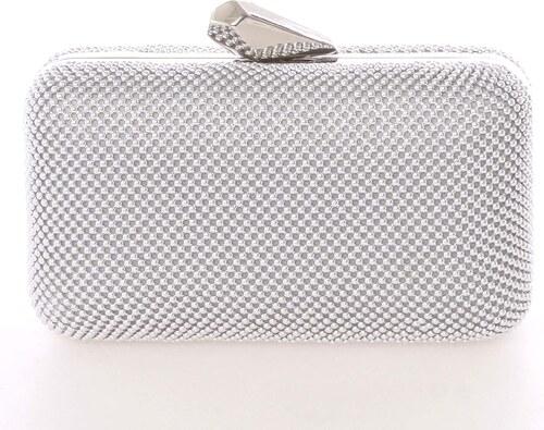 7e1594048 Módna dámska perleťová listová kabelka strieborná - Delami V437 strieborná