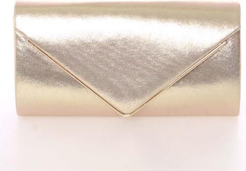 e82922978 Moderná saténová dámska listová kabelka zlatá s glitterom - Delami D697  zlatá