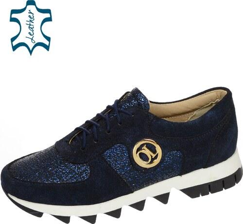 0aac3579c OLIVIA SHOES Štýlové modré tenisky na extravagantnej podošve BERLINO K894