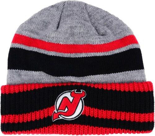 cff35196bb873 New Jersey Devils zimná čiapka adidas NHL Heathered Grey Beanie ...