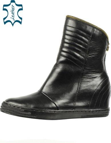 b68a63a0125ce OLIVIA SHOES Čierne dámske členkové topánky so skrytým opätkom K947 ...